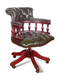 Delightful Chesterfield Captains Leather Office Chair