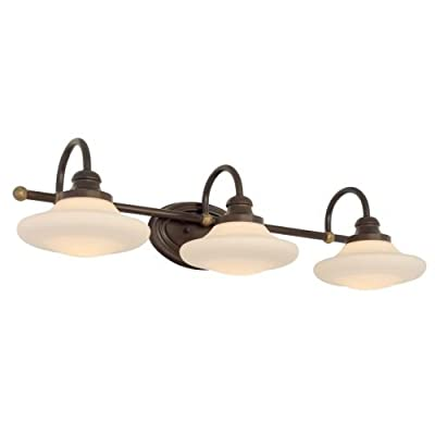 Miseno SBU137292ORZ Santi 3-Light Bathroom Vanity Light - Reversible Mounting Option - Reversible Mounting - May be installed with the glass pointed upward or downwards Bulbs not included Ultra secure mounting assembly - bathroom-lights, bathroom-fixtures-hardware, bathroom - 31csCDb2wpL. SS400  -