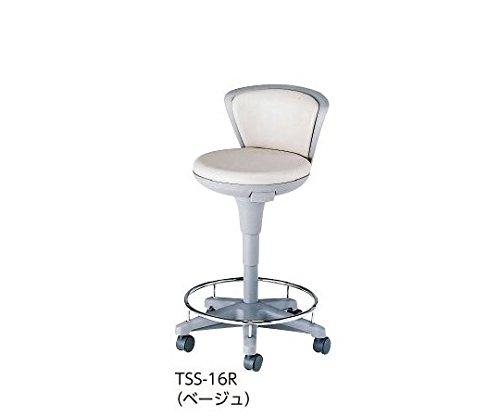 システムスツール TSS-16R ベージュ ハイタイプ背付きリング付きキャスター有り /0-5074-03 B07CCNPBNM