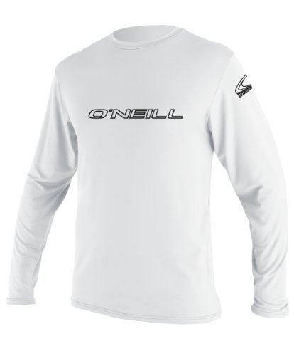 O'Neill Wetsuits Men's Basic Skins UPF 50+ Long Sleeve Sun Shirt, White, XX-Large ()