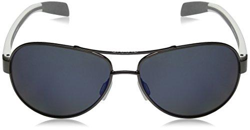 Nativo polarizadas Lens White Haskill gafas de sol Gunmetal gafas Frame and Reflex Blue rxOr4q7nRw