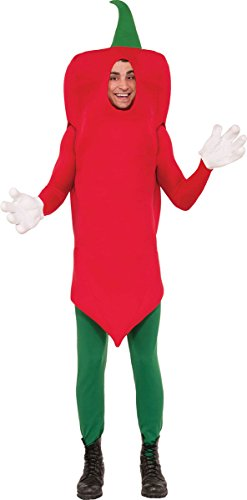 Chilli Pepper Costumes (Men's Stag Night Red Hot Vindaloo Mexican Fancy Party Chilli Pepper Costume)