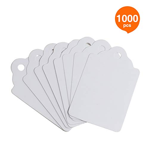 RonXer Unstrung Marking Tags,1000 Pcs Price Tags,1.75 x 1.1 Inches,White Merchandise Tags for Sale ()