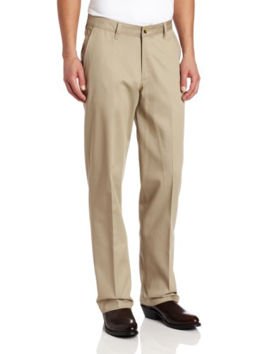 Mens Relaxed Fit Casual Pant - Wrangler Men's Riata Flat Front Relaxed Fit Casual Pant, Khaki, 36x34