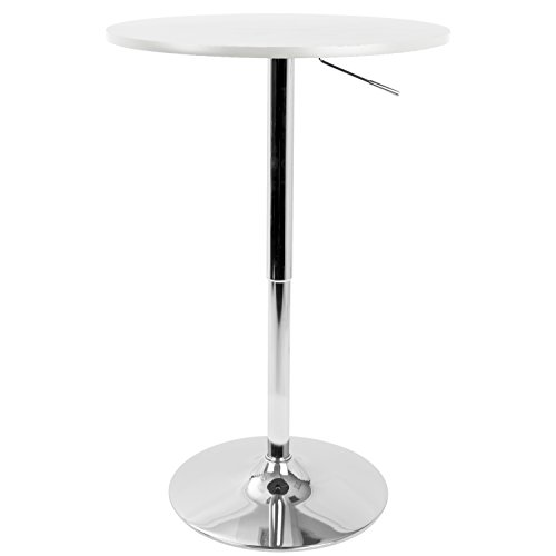 WOYBR BT-TLELIA27 W MDF, Chrome Top Does Not Spin. Elia Bar Table ()