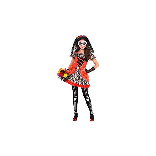 Sugar Skull Senorita Child Costume -