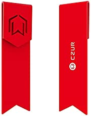 CZUR Metal Bookmark Marcador de Regalo único Para Mujeres y Hombres hecho de aluminio aeroespacial para uso duradero (Candy Apple Red)