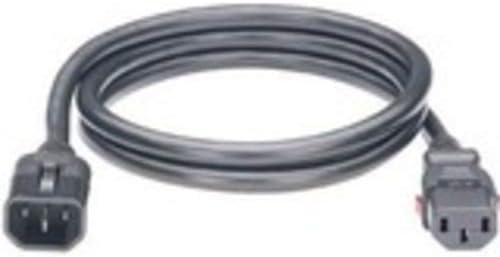 IEC 60320 C14 Locking to IEC 60320 C13 Locking AC 250 V Panduit Power Cable 10 A 4 ft Black