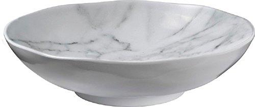 Merritt White Marble Melamine 9″ Salad Bowls – set of 4