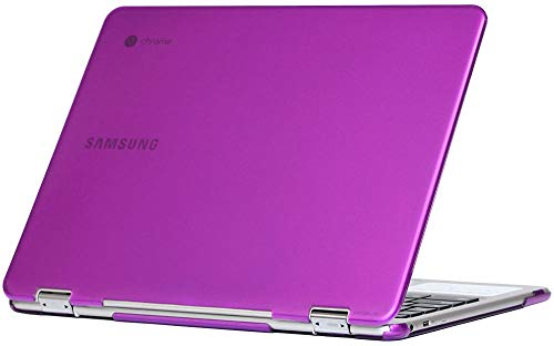 mCover Hard Shell Case for 2018 12.2 Samsung ChromeBook Plus XE521QAB Series (NOT Compatible with Older XE513C24 / XE510C24 / XE303C12 / XE500C12 / XE503C12 Models) Laptop - Purple