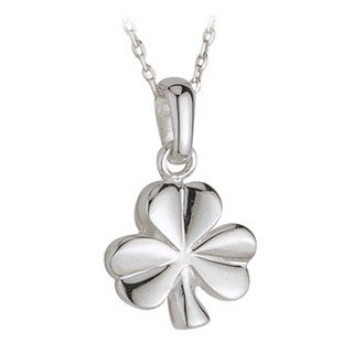 Failte Silver Shamrock Necklace 18