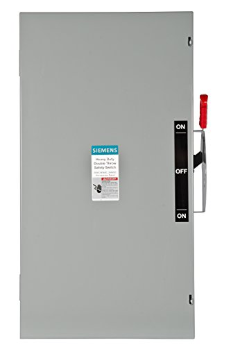 200a Manual Transfer Switch - Siemens DTNF224 200 Amp 2 Pole 240V 2 Wire Non Fused Double Throw Type 1 Switch