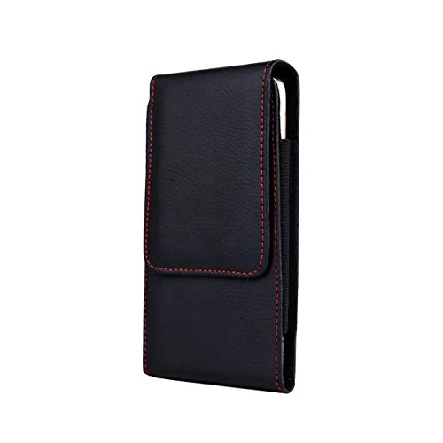 Luxury PU Leather Vertical Executive Holster Belt Clip Pouch Case for iPhone 8 7 / Samsung Galaxy S7 / Galaxy J1 J2 J3 Prime/LG K3 / Motorola Moto E4 / G5 / BLU Advance A5 /Studio J2 5.0 Smartphone (Apple Iphone 5 16gb Black & Slate)
