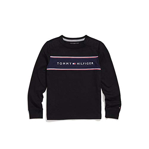 Tommy Hilfiger Men's Adaptive Long Sleeve T Shirt with Touch Fastener Closure