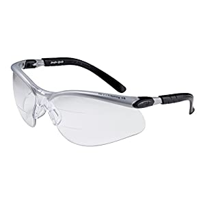 3M BX Dual Reader Protective Eyewear, 11457-00000-20 Clear Anti-Fog Lens, Silv/Blk Frame, +1.5 Top/Bottom Diopter (Pack of 1)