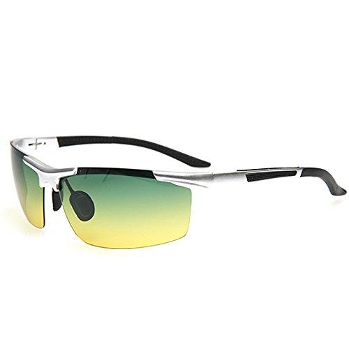 magnesio TIANLIANG04 de gafas nuevos bastidor UV400 de aluminio moda de negro noche gafas protección de hombres Gafas Argento automóvil día pPRApw