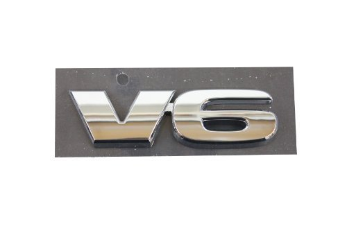 Genuine Toyota Accessories (75473-04050) V6 Emblem by Toyota (2014 Toyota Camry Emblem compare prices)