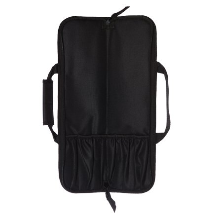 5 Pocket Padded Chef Knife Case Roll by Ergo Chef (Black)