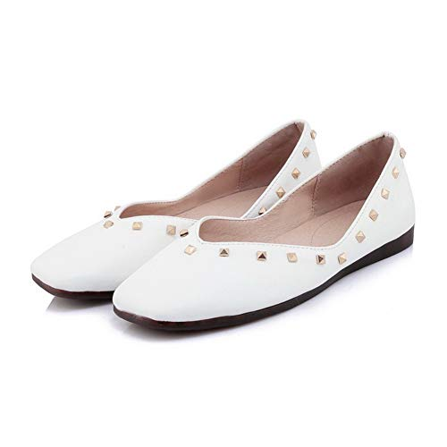 Trafilatura Ballet Bianco Chiusa Punta AgooLar Tacco GMMDB008374 Studded Donna Basso Flats ZwvRvfqt0