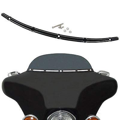 FidgetFidget Windshield Trim New 4-Slot 2014-UP Harley Electra Street Glide Touring Bike