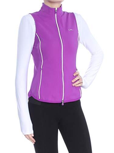 Ralph Lauren $99 Womens New 1688 Purple Zippered Vest XS Petites - Lauren Ralph Zippered