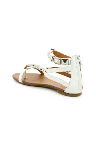 Go Tendance - Sandalias de vestir para mujer Blanco - blanco