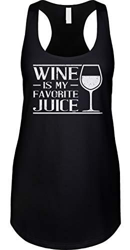 (Blittzen Womens Tank Wine is My Favorite Juice, 2XL,)