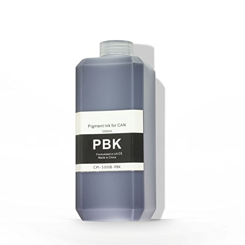 OfficeSmartInk Refill Ink Canon Compatible Photo Black Pigment Ink 500ML (16.91 fl oz) Bottle - 1PK