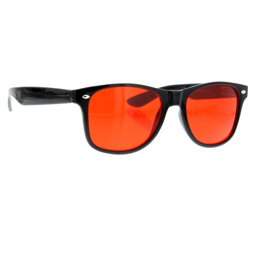Vintage Retro Sunglasses Color Lens Gradient Classic Retro - Tint Red Sunglasses