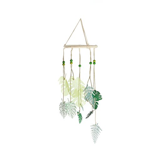 Roser Life Hanging Mobile Art⎮Baby Mobile⎮Sky Mobile⎮Eclectic Decor⎮Handmade Nursery Crib Boy Girl Kids Infant Adult Ceiling Home Outdoor Garden Green Tropical Leaf Leaves Decorations (Pack of 1)