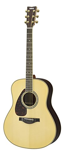 Yamaha L-Series LL16 Left Handed Acoustic-Electric Guitar with Gig Bag - Natural