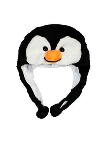 Penguin_(US Seller)New HOODED Cap Hat Plush Beanie Fleece Winter