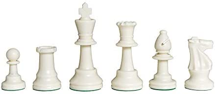 """Kings 3.75/"""" x 1.5/"""" New Competition Series Chess Pieces 34 Black /& White"""