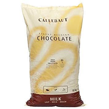 - Belgian Milk Chocolate Baking Callets (Chips) - 31.7% - 1 bag, 22 lbs