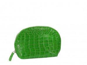 (Joann Marie Designs COSLMC Cosmetic Bag - Lime Mock Croc Pack of 2 )