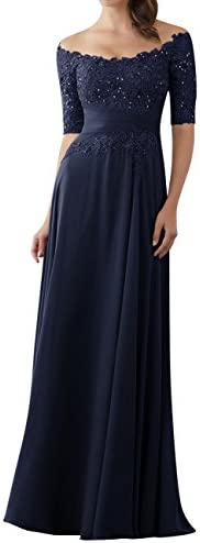 Evening Dresses Mother Sleeves Chiffon product image