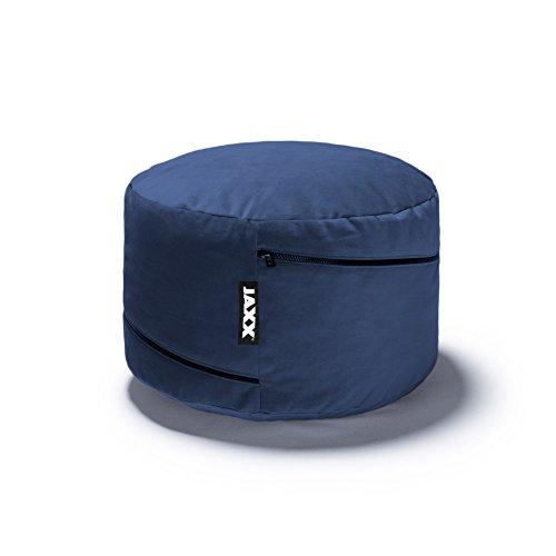 Jaxx Peachtree Pouf Round Ottoman / Floor Pillow, Blue