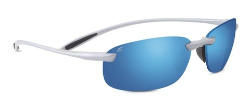 Serengeti 8289 Nuvola, Metallic Silver Frame, Polar PhD 555nm Blue - Nuvola Serengeti Sunglasses