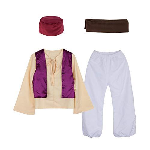 Prettyia Novelty Arabian Prince Sheik Desert Sultan Arab Outfit Night Fancy Dress Costume Hat Adults Stage Performance - Multicolor, M