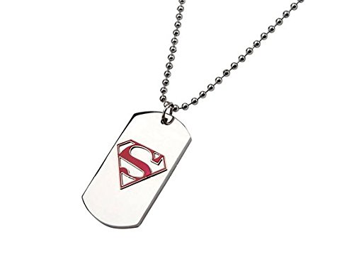 "DC+Comics Products : DC Comics Superman Red ""S"" Dog Tag Pendant with Ball Chain"