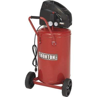 Ironton Portable Electric Air Compressor – 1.5 HP, 20 Gallon Vertical Tank