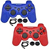 BlueLoong 2 Pack PS3 Controller Wireless SIXAXIS