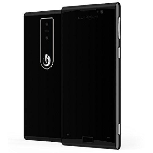 Lumigon T3 128GB Stainless Steel Dual-SIM (GSM Only, No CDMA) Factory Unlocked 4G Smartphone (Black/Black Steel) - International Version