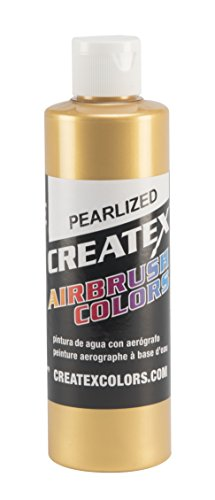 Gold Pearl Paint (Createx Colors Paint for Airbrush, 8 oz, Pearl Satin Gold)