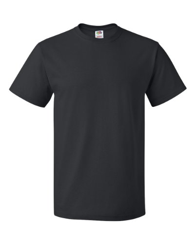 (Fruit of the Loom Adult HD Cotton T-Shirt, Black, XX-Large (Pack of 5))