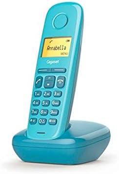 Gigaset A170 - Teléfono Inalámbrico, Pantalla Iluminada, Agenda de 50 Contactos, Color Azul