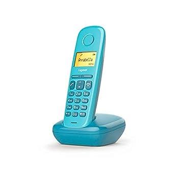 Gigaset A170, Teléfono inalámbrico, Pantalla iluminada, Agenda de 50 contactos. Color Azul