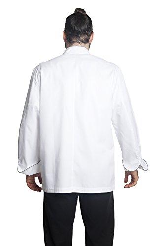 Bragard Exclusive Design Men's perigord Chef Jacket - White With Gray Piping Cotton - Size 40 by Bragard (Image #6)