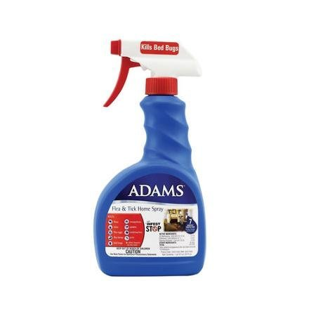 2 Pack Adams Flea and Tick Control Home Spray, ALSO KILLS BED BUGS! 24 oz totaling 48oz