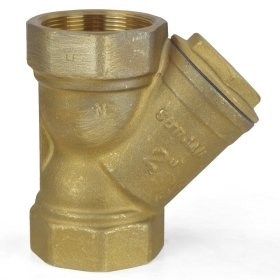 2'' Threaded Y-Strainer, Lead-Free Brass by Wright Valves